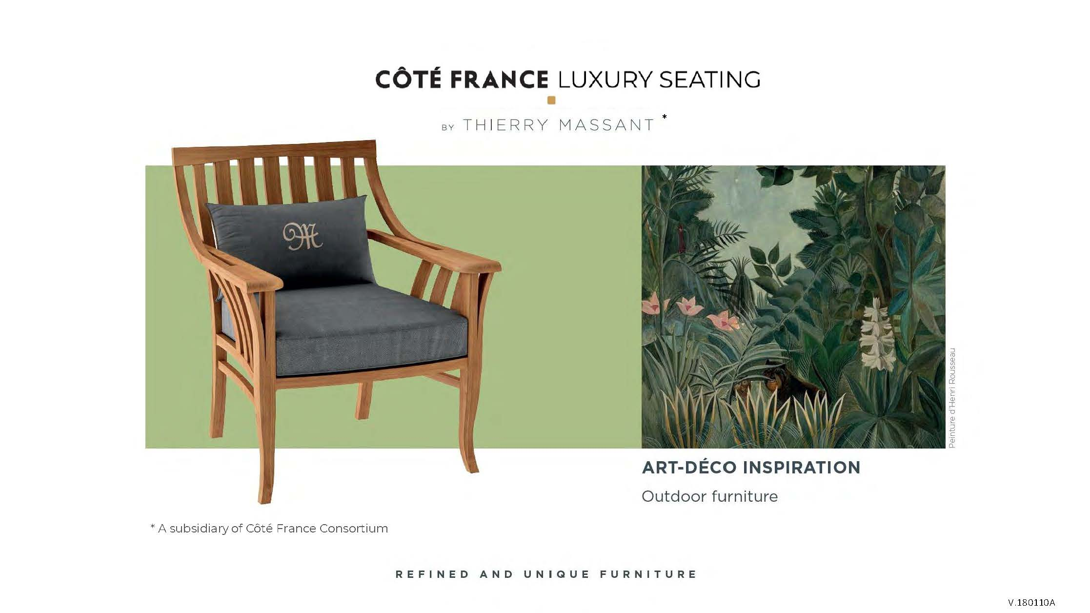 Cote France Catalog 2_Luxury Seating by Thierry Massant Cover