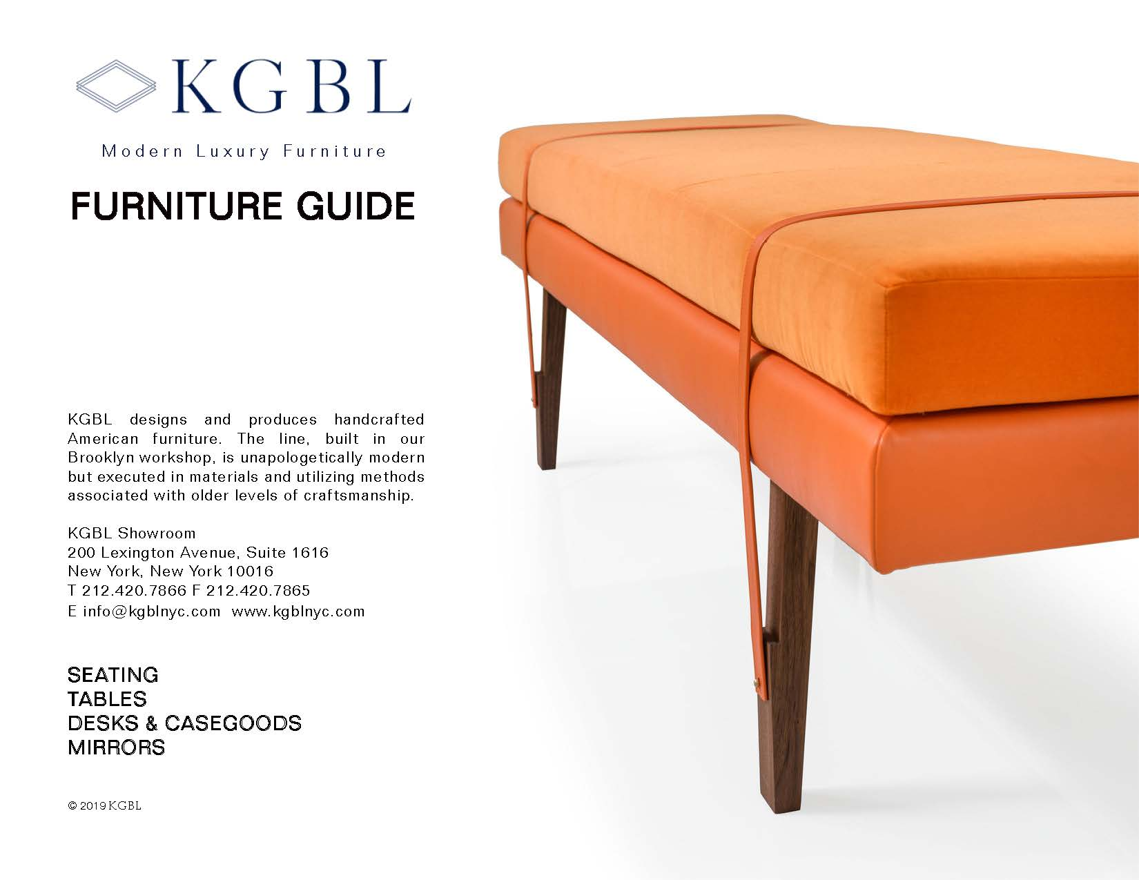 KGBL Catalog_Furniture Guide Cover