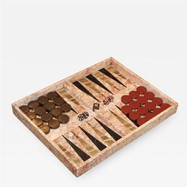 1970's Italian Marble Backgammon Set