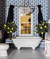Dollhouse Beautiful_Bathroom designed by Caitlin Wilson Thumbnail
