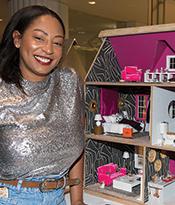 Dollhouse Beautiful_Eneia White with her dollhouse Thumbnail