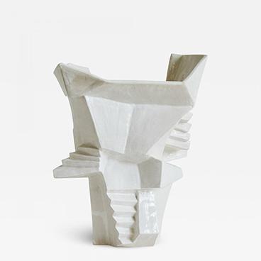 14_Wheel thrown Vessel White Stoneware with a Blanc de Chine Glaze
