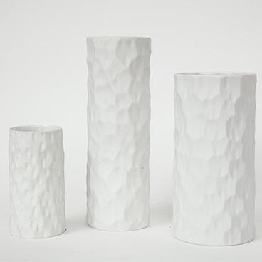 15_Thomas Germany Trio of White Coral Vases