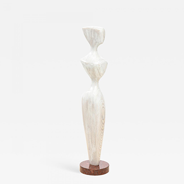 16_Dick Shanley Figure Study III Contemporary Wood Figurative Sculpture
