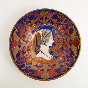 21_Majolica Decorative Plate by Alfredo Santarelli