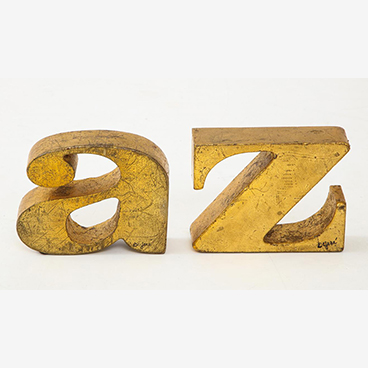23_Curtis Jere A-Z Iron Bookends