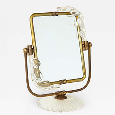 4_Barovier Toso Frame and mirror from Murano circa 1940