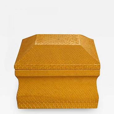 8_Lemon Yellow Python Skin Jewelry Box by Karl Springer