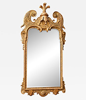 Carved and gilded mirror Thumbnail