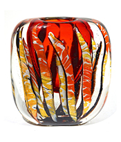 Cosulich_Cristian Onesto 2000s Crystal Murano Glass Organic Vase Thumbnail