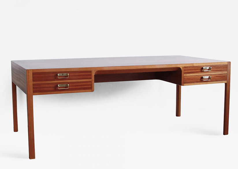Mahogany Desk by Bernt Petersen