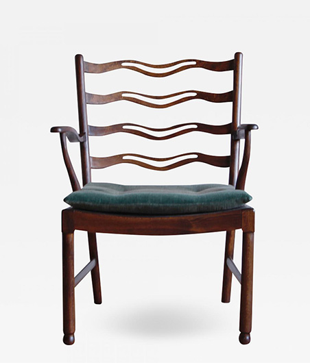 Ole Wanscher Armchair Model No 1755 for Fritz Hansen
