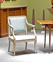 Pair of Painted and Parcel Gilt Armchairs Thumbnail