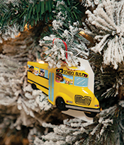 The Gallery at 200 Lex_Holiday Gift Guide_Kips Bay School Bus Ornament Thumbnail