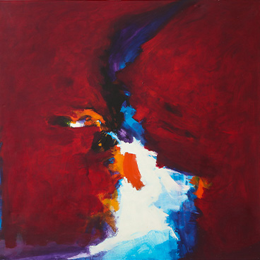 Gallery Walls 18_Ronaldo de Juan Large and powerful Abstract Expressionist painting