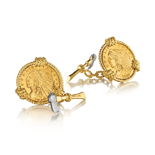 Verdura-Jewelry-Five-Buck-Cufflinks-Gold