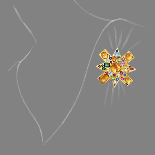Verdura-Jewelry-Ravenna-Brooch-Scale-Rendering