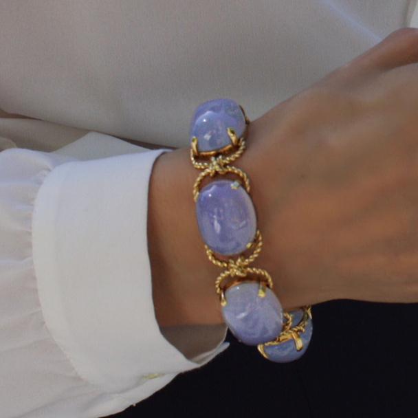 Chalcedony Pebble Bracelet - cropped