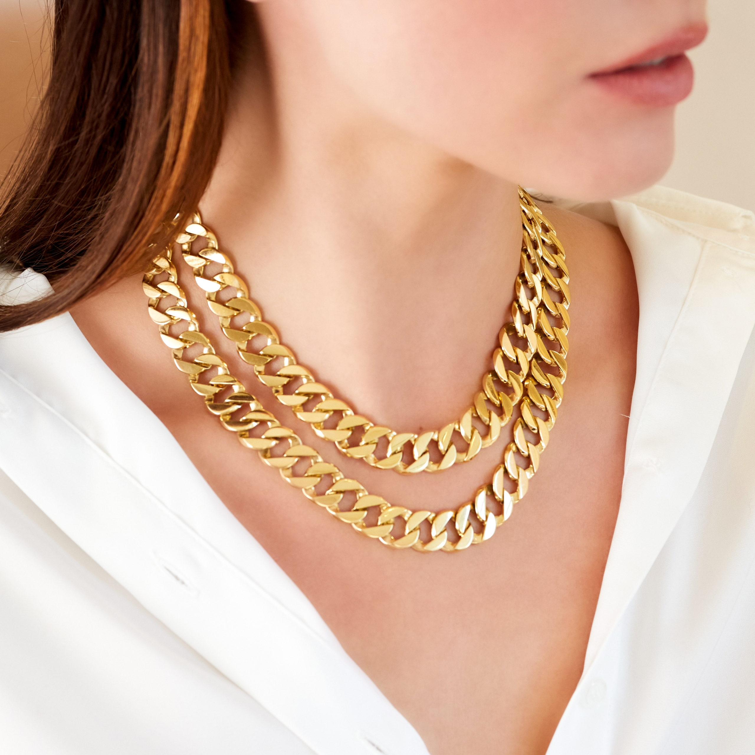 Double Wrap Curb-Link Necklace