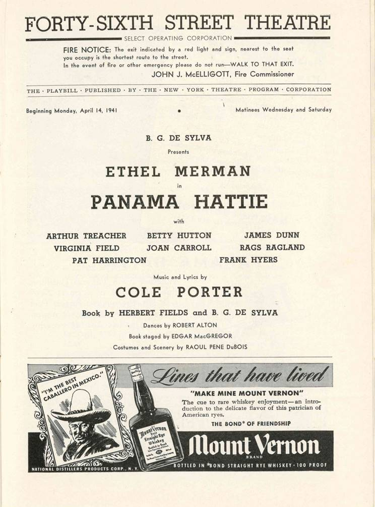 Inside Panama Hattie Playbill