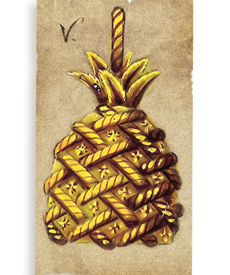 Verdura-Jewelry-Pineapple-Pendant-Bracelet-Watch-Sketch-B94-Portrait
