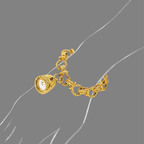 Verdura-Jewelry-Beehive-Pendant-Watch-Gold-Scale-Rendering