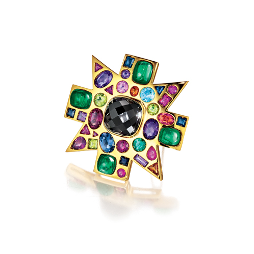 Verdura-Jewelry-Byzantine-Brooch-Spinel-Emerald