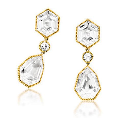 Verdura-Jewelry-Byzantine-Pendant-Earclips-Gold-White-Topaz