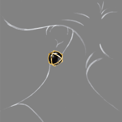 Verdura-Jewelry-Caged-Earclip-Onyx-Scale-Rendering