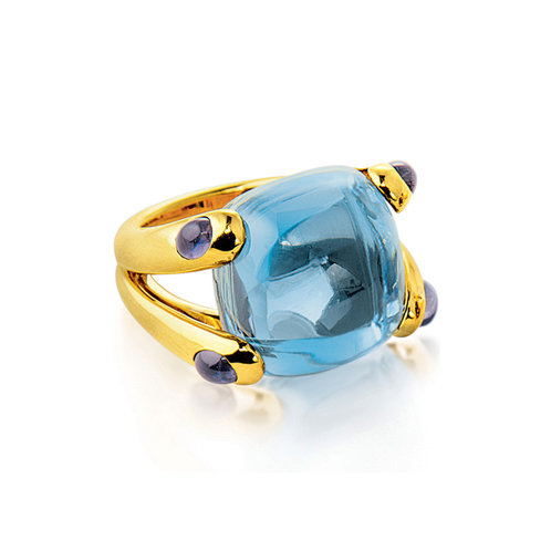 Verdura-Jewelry-Candy-Ring-Gold-Blue-Topaz-Iolite
