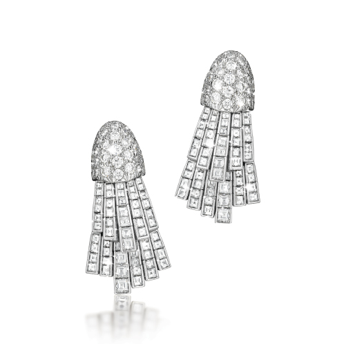 Verdura-Jewelry-Comet-Earclips-Diamond-Platinum