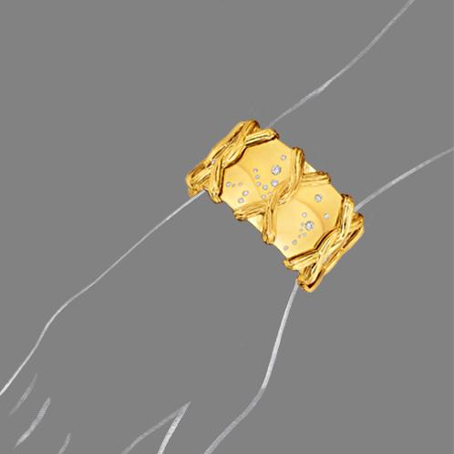 Verdura-Jewelry-Constellation-Bracelet-Scale-Rendering