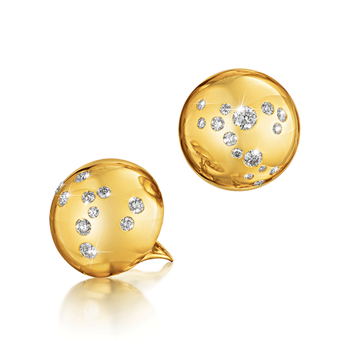Verdura-Jewelry-Constellation-Dome-Earclips-Gold-Diamond