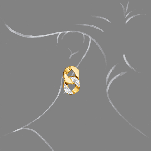 Verdura-Jewelry-Curb-Link-Earclips-Gold-Diamond-Scale-Rendering