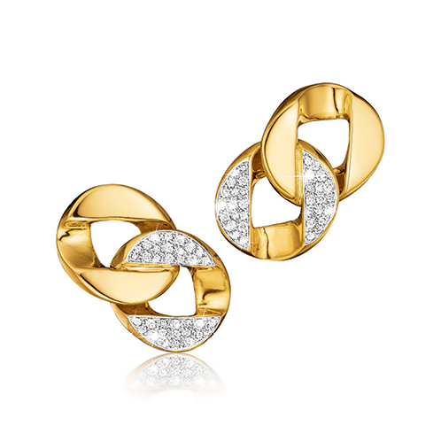 Verdura-Jewelry-Curb-Link-Earclips-Gold-Diamond