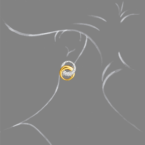 Verdura-Jewelry-Double-Crescent-Earclips-Gold-Diamond-Scale-Rendering