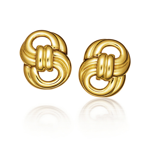 Verdura-Jewelry-Figure-Eight-Earclips-Gold