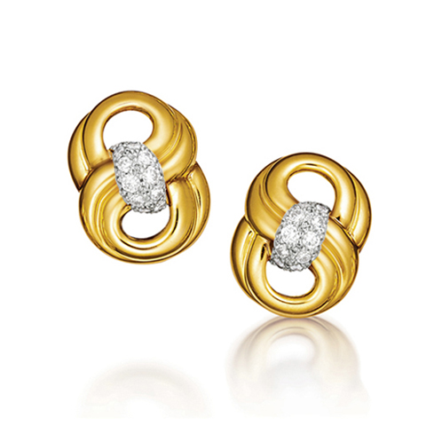 Verdura-Jewelry-Figure-Eight-Earclips-Gold-Diamond