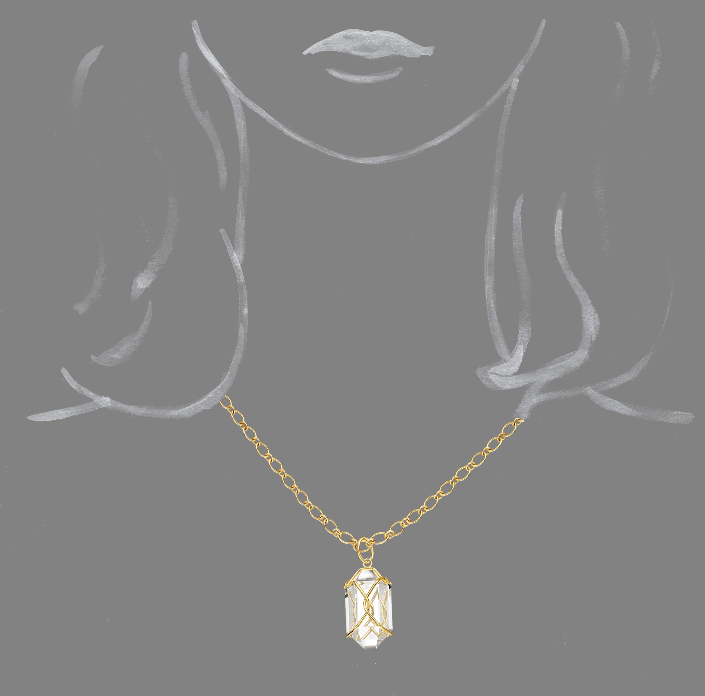 Verdura-Jewelry-Herkimer-Necklace-Rock-Crystal-Scale-Rendering