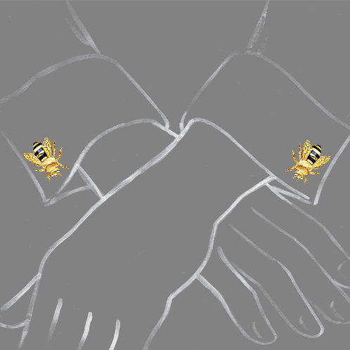 Verdura-Jewelry-Honeybee-Cufflinks-Scale-Rendering