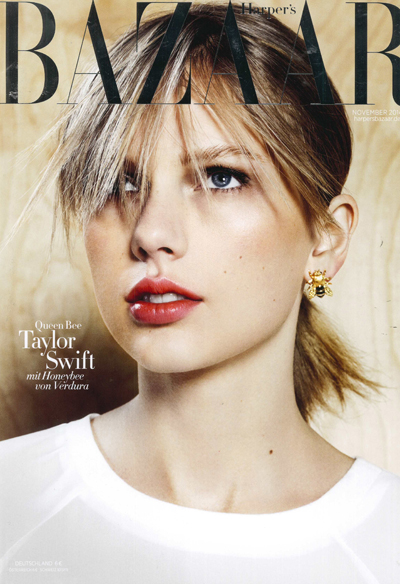 Verdura-Jewelry-Honeybee-Earrings-Harpers-Bazaar-November-2014