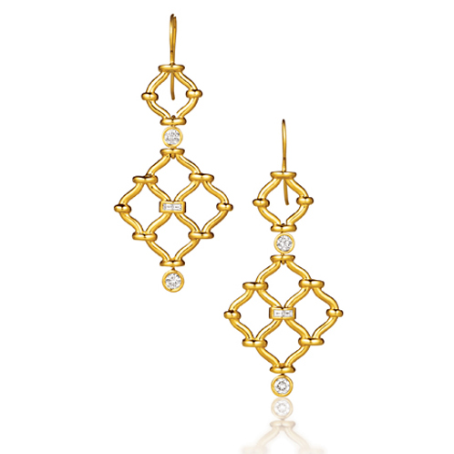 Verdura-Jewelry-Kensignton-Earrings-Gold-Diamond
