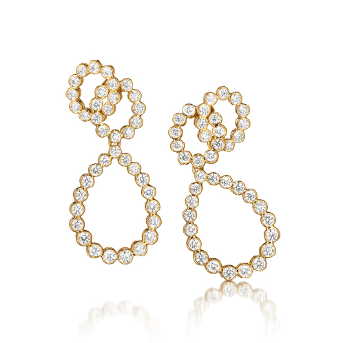Verdura-Jewelry-Looped-Earclips-Gold-Diamond