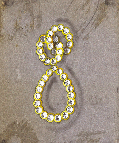 Verdura-Jewelry-Looped-Earclips-Sketch-Portrait