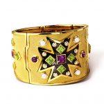 Verdura-Jewelry-Maltese-Cross-Bracelet-Gold-Amethyst-Peridot-Pearl-150x150