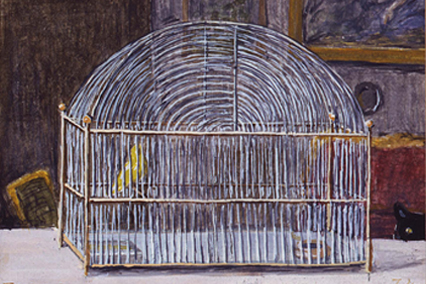 Verdura-Jewelry-Miniature-Painting-Birdcage