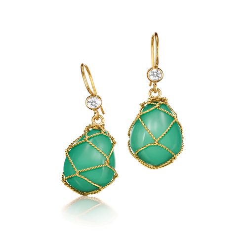 Verdura-Jewelry-Net-Drop-Earrings-Gold-Chrysoprase