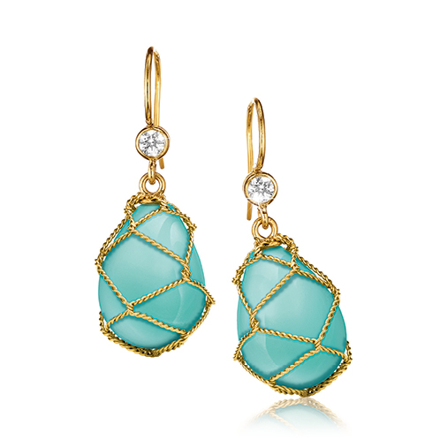 Verdura-Jewelry-Net-Drop-Earrings-Gold-Turquoise