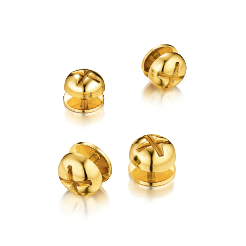 Verdura-Jewelry-Nut-and-Bolt-Stud-Set-Gold