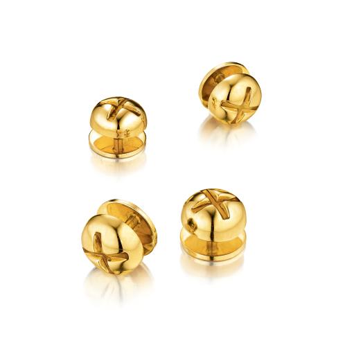 Verdura-Jewelry-Nut-and-Bolt-Stud-Set-Gold